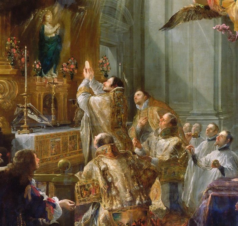 A Santa Missa é, pois, a mais bela expressão externa em honra de Deus, uma vez que é por Ele mesmo oferecido enquanto Segunda Pessoa da Santíssima Trindade.