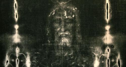 Imagem em negativo do Santo Sudário.