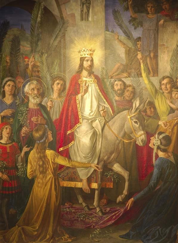 No domingo anterior à festa da Páscoa da Ressurreição do Senhor, a Igreja celebra o Domingo de Ramos, recordando o a entrada triunfal de Nosso Senhor Jesus Cristo em Jerusalém.