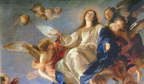 Nossa Senhora foi levada aos Céus em corpo e alma, houve a maior celebração realizada no Paraíso depois dos esplendores da Ascensão de Nosso Senhor Jesus Cristo.