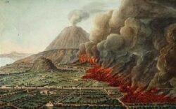 O Vesúvio espalhou uma nuvem incandescente e com ela a destruição: 16.000 pessoas morreram. Os habitantes foram pegos de surpresa, em atividades normais do dia a dia.