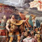 """""""Houve uma vez um Chefe de Estado que quis derrotar os adversários do Cristianismo. Empenhou uma grande batalha e deveu sua vitória à Cruz. Este chefe se chamou Constantino. Não foi ele que deu vitória à Cruz, mas foi a Cruz que o fez vencer."""""""